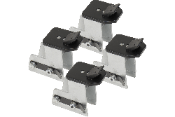 Dannmar elevated ATV and motorcycle wheel clamps for tire changers