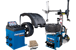 DB-70 wheel balancer and DT-50A tire changer package deal with tape weights